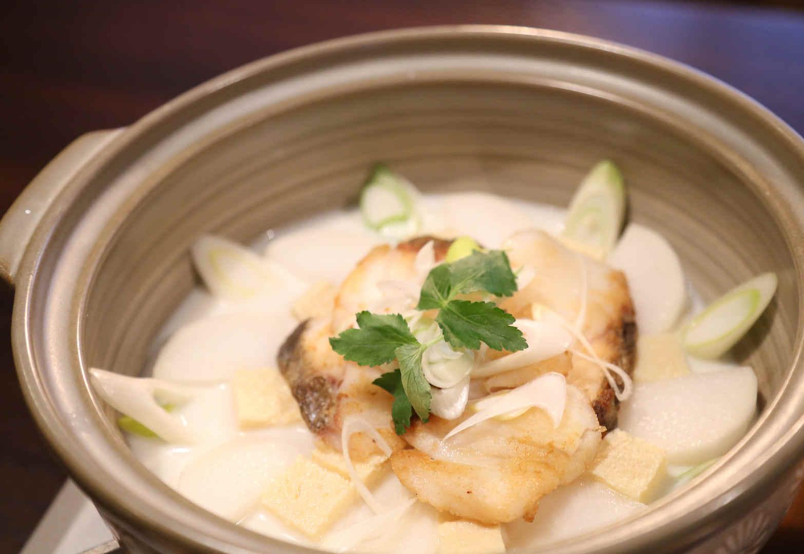 Fish Thick Soup prepared with 3.7 Hokkaido Milk 1